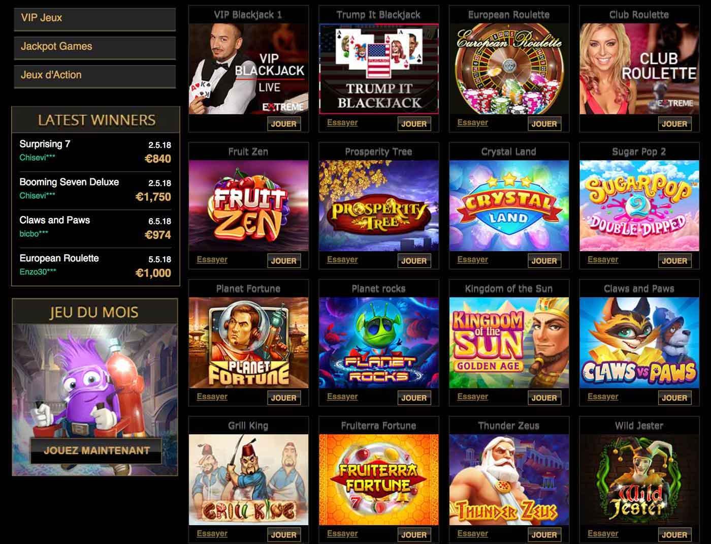 Jeux joka casino : que propose Joka casino comme jeu ?